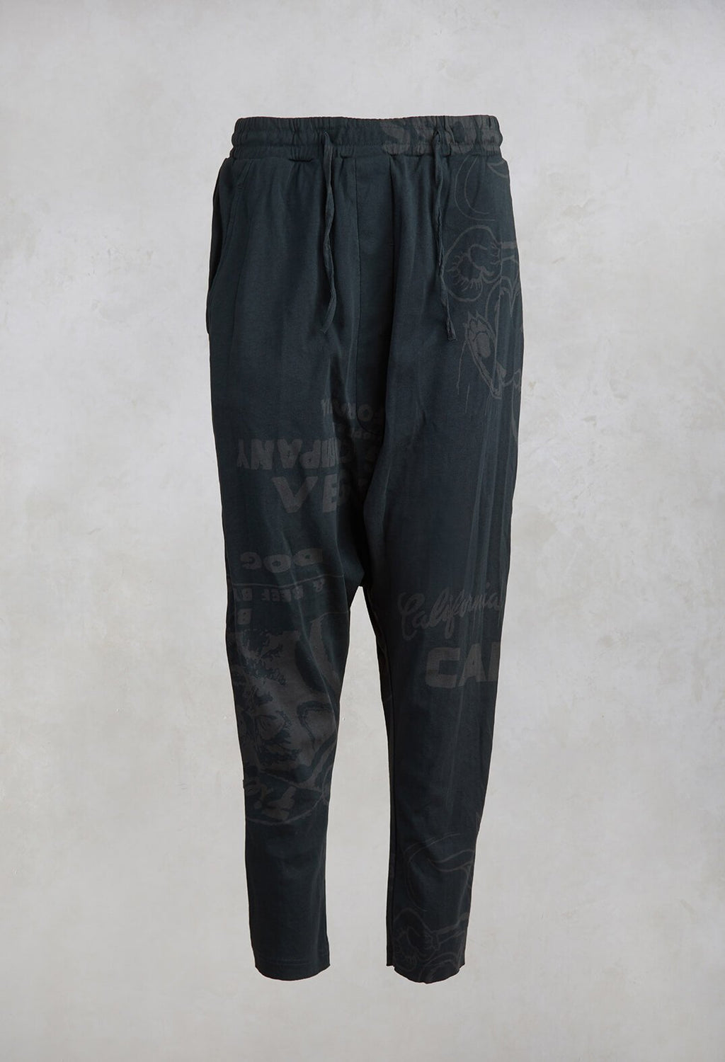 Straight Leg Trousers in Bottle Print