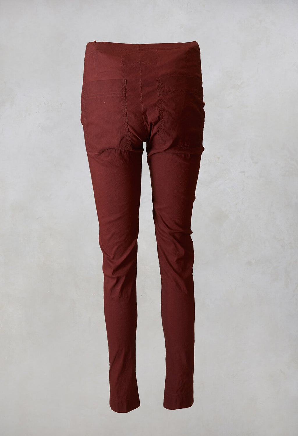 Straight Leg Trousers in Maple