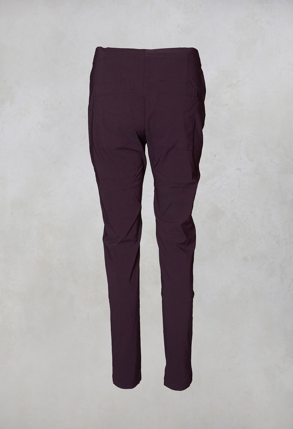 Straight Leg Trousers in Merlot