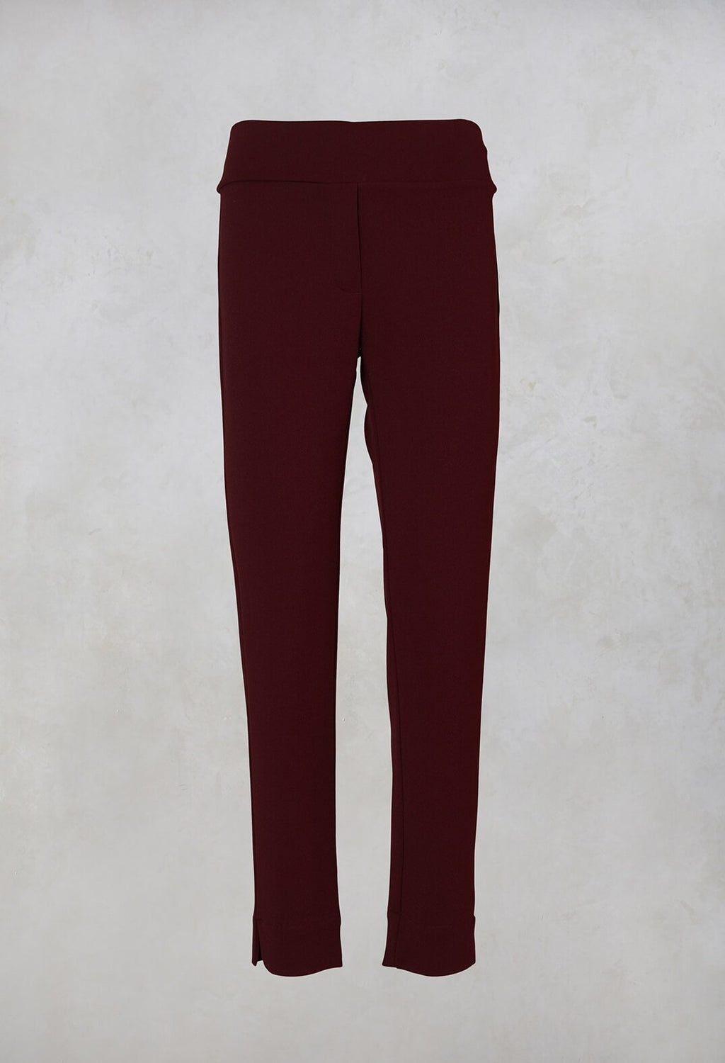 Straight Leg Trousers in Wine