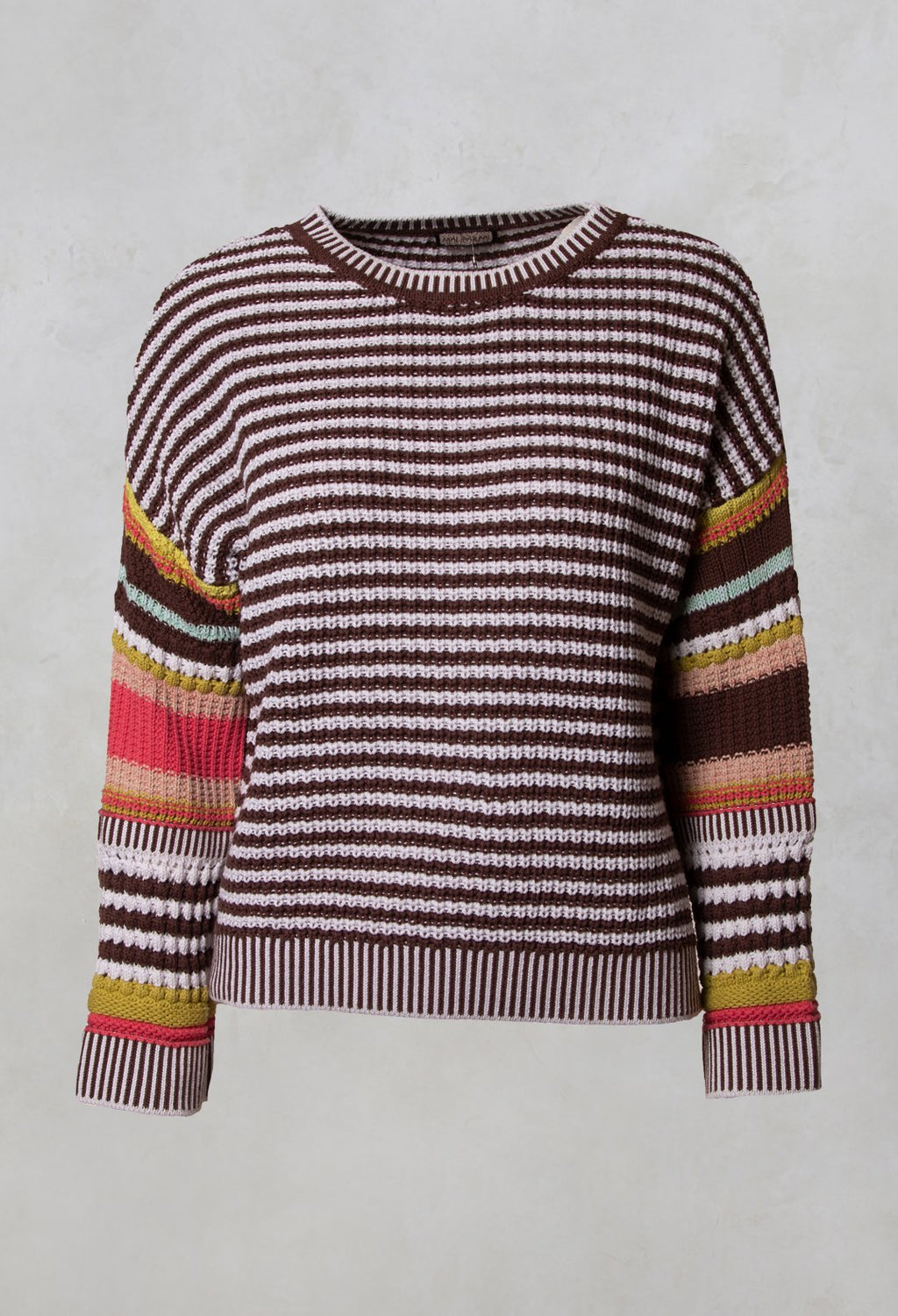 Streaked Shirt in Marrone / Multicolour