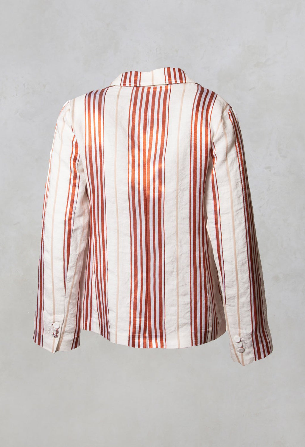 Streaked Summer Jacket in Naturale / Brick