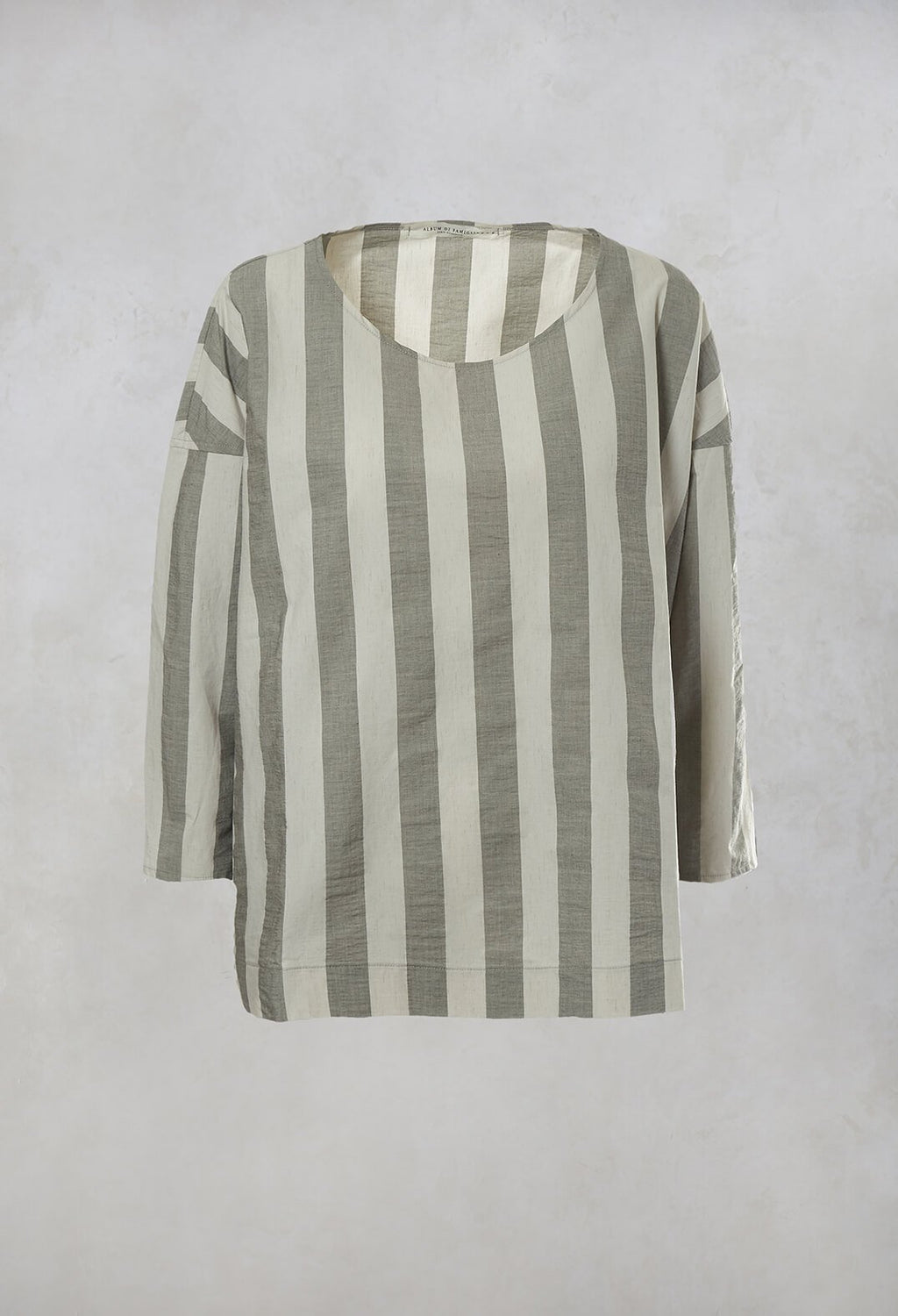 Striped T-Shirt in Light Grey
