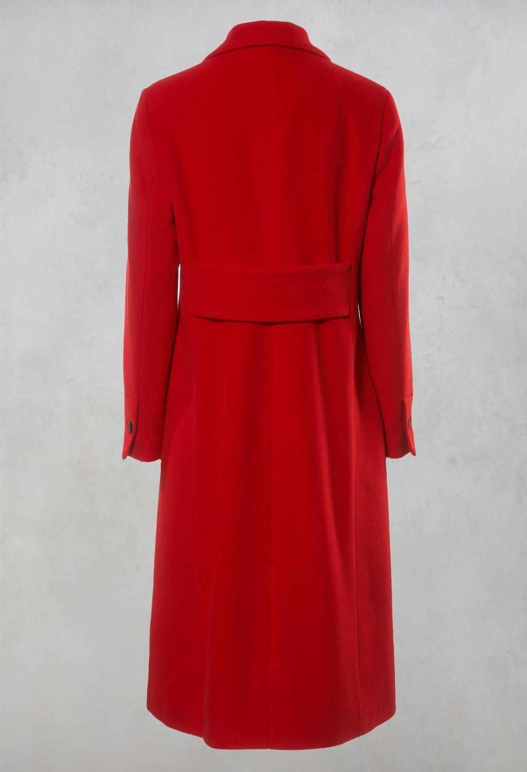 Tailored Duster Coat in Red