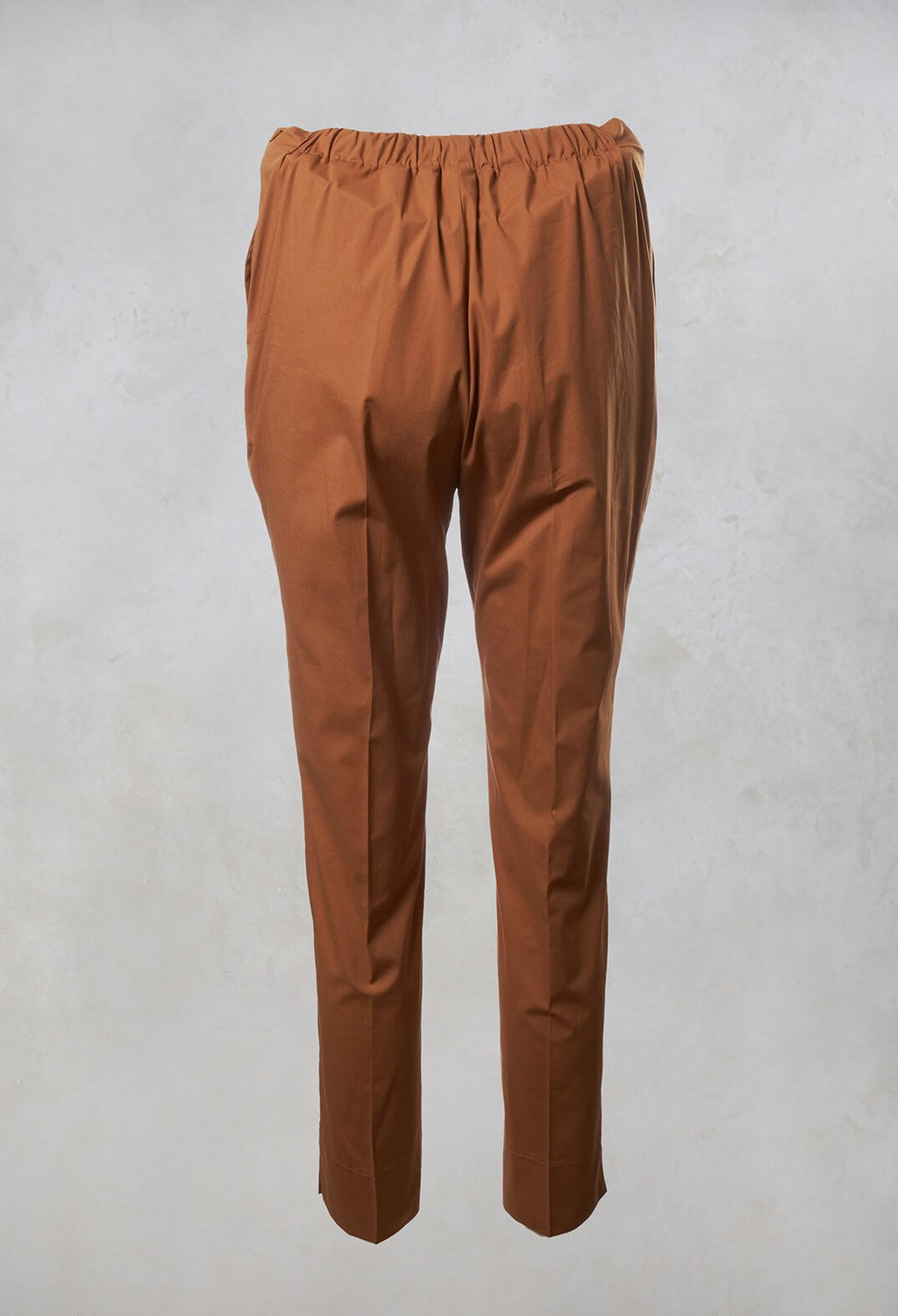 Tapered Trousers in Brown