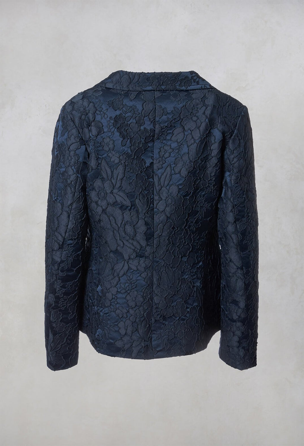 Textured Blazer in Dark Blue