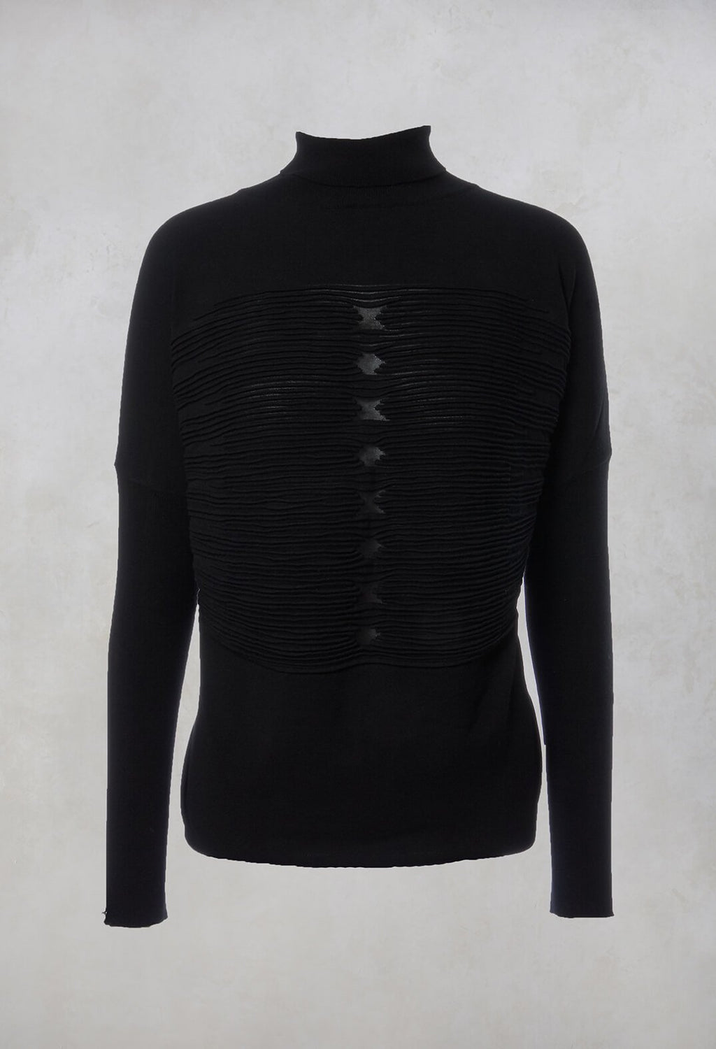 Textured Roll Neck Jumper in Intrigue