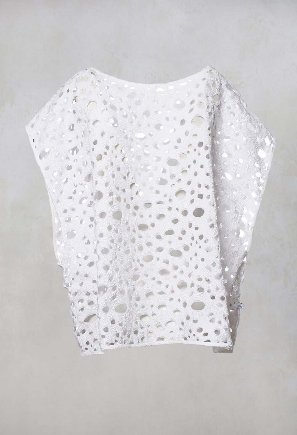 Textured Top in White