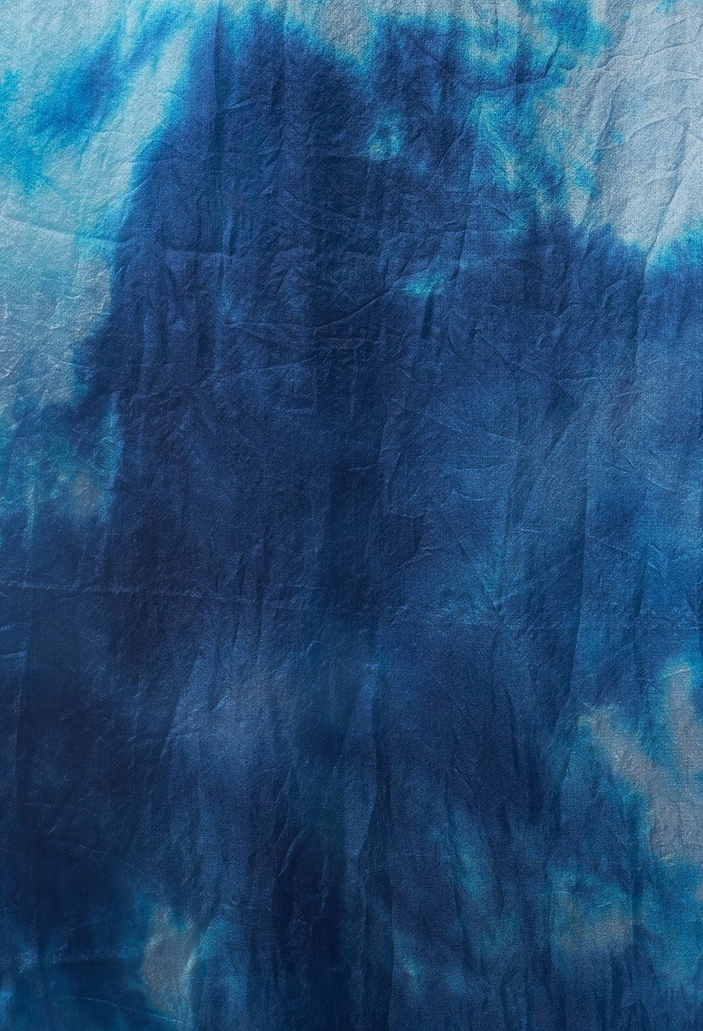Tie Dye Sheer Silk Scarf in Indigo