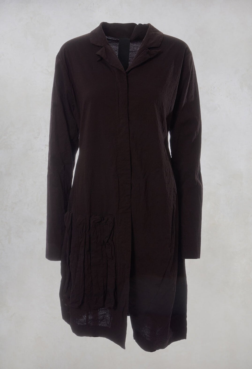 Trench Coat in Dark Red