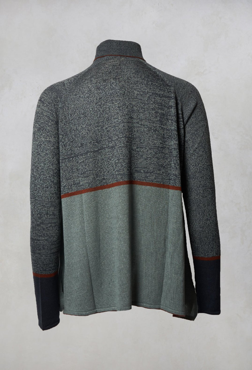 Turtle Neck Jumper in Mosaic