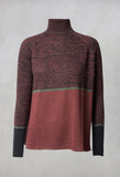 Turtle Neck Jumper in Plum