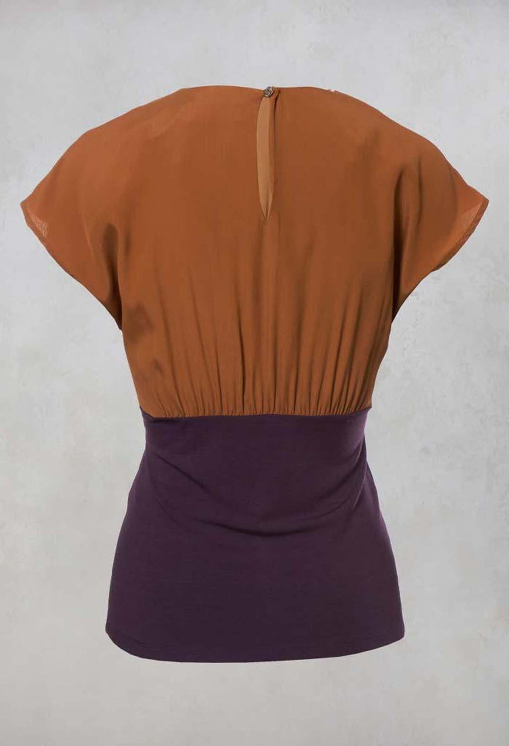 Two Tone Top in Bronzo