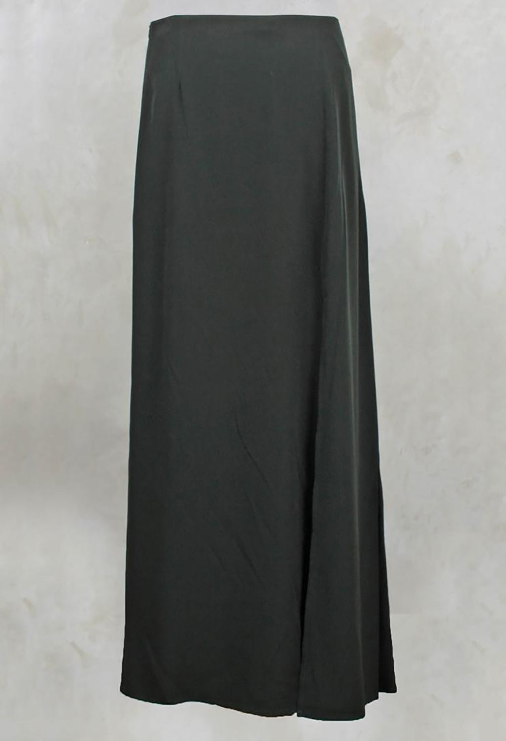 Long Length Skirt with Split in Khaki