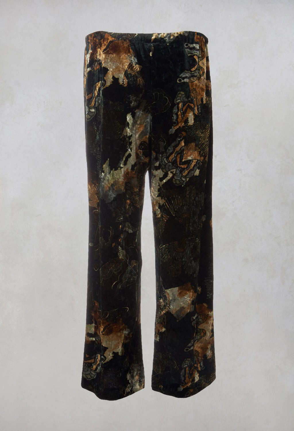 Velvet Trousers in Green