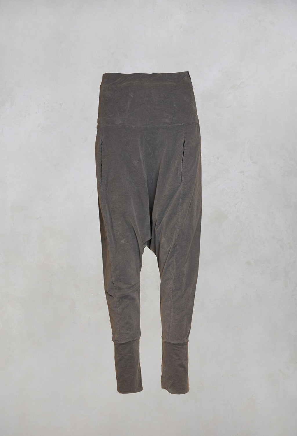 Velvet Trousers in Grey