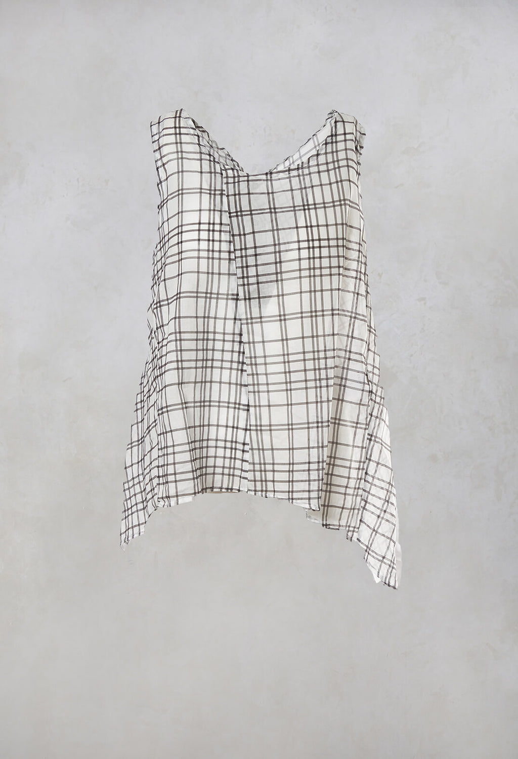 Vest Top in Brown Check
