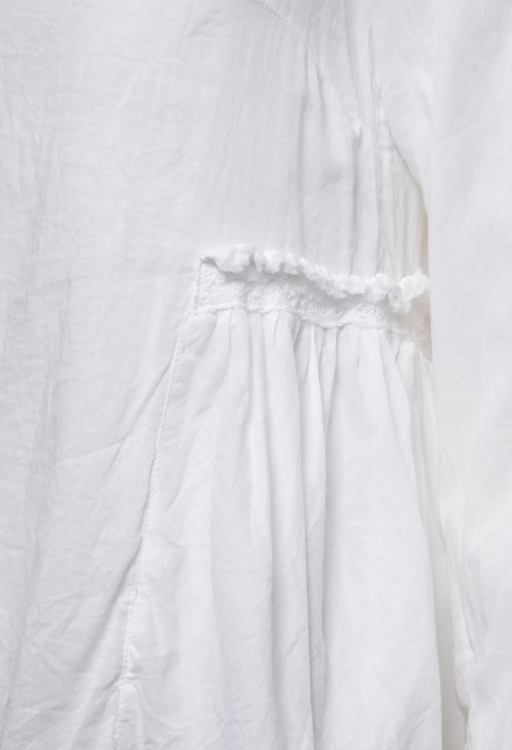 Voile Blouse in White