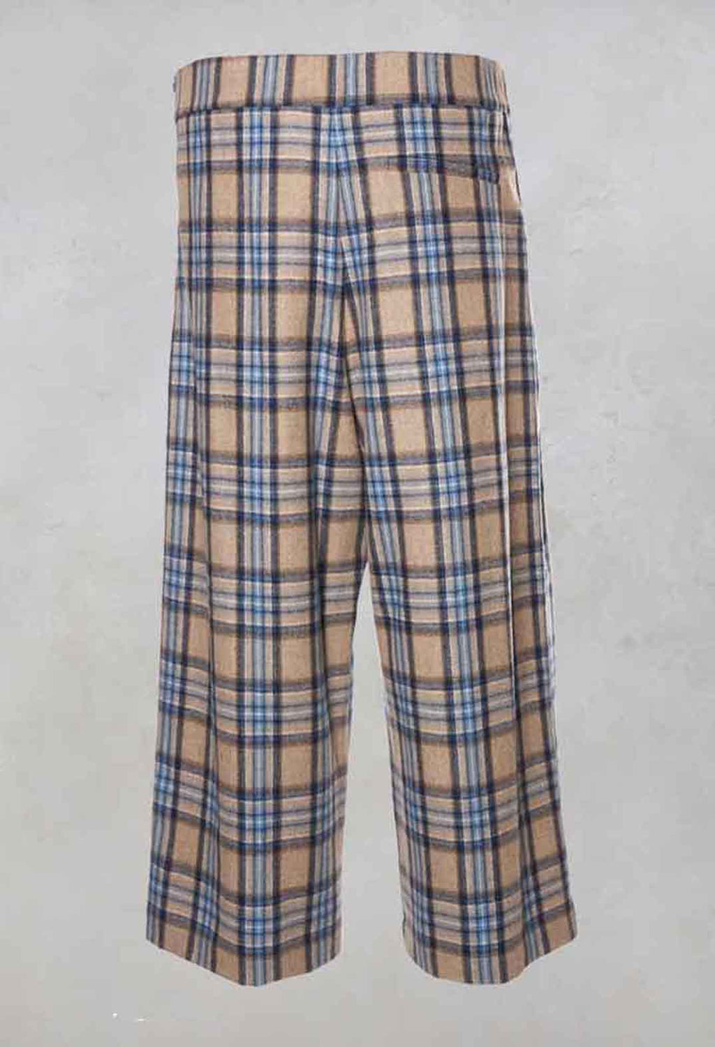 Wide Check Culottes in Blue