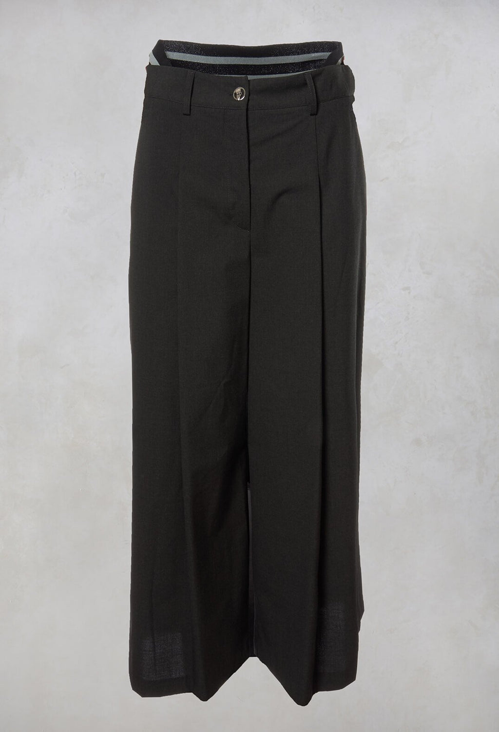 Wide Leg Tailored Trousers in Shadow