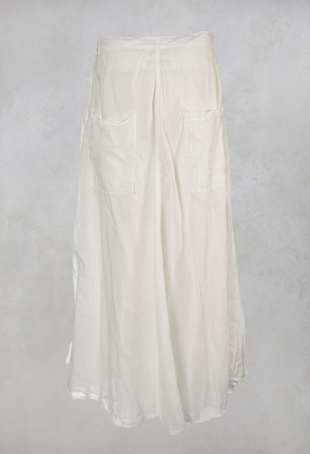 Wide Leg Trousers in Chalk