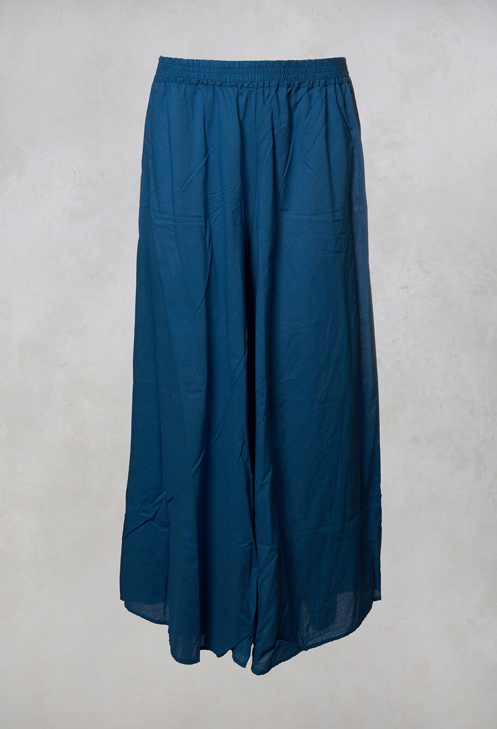 Wide Leg Trousers in Indigo