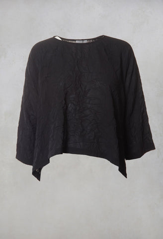 Woven Blouse in Black
