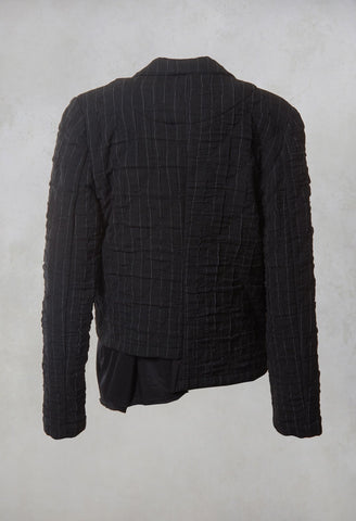 Woven Jacket in Grey Stripe
