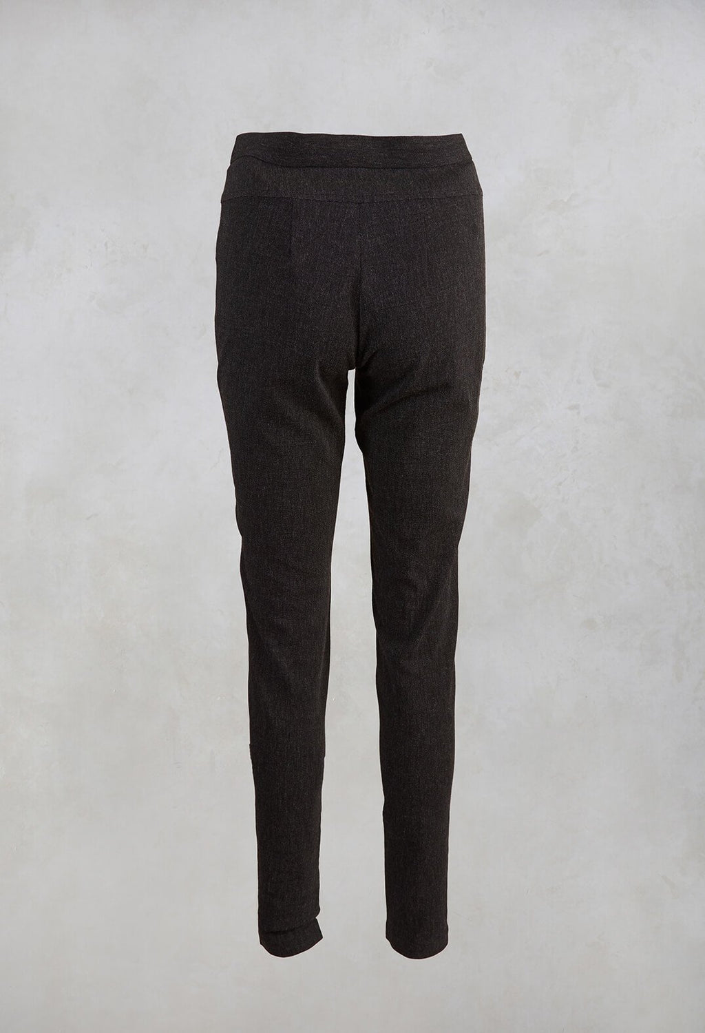 Woven Tapered Trousers in Grey