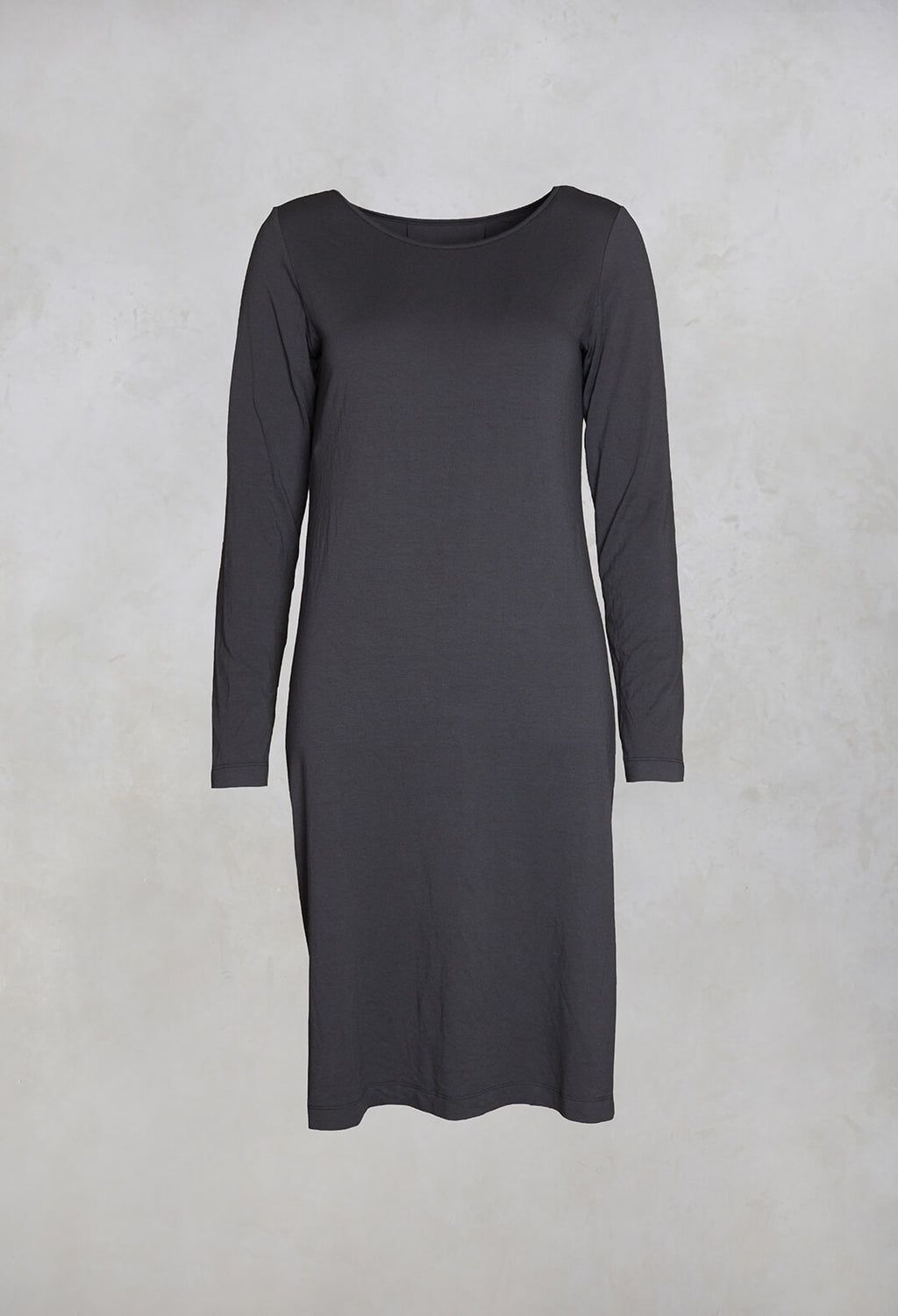 Long Sleeved Jersey Dress in Grey