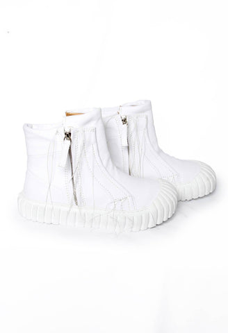 Zip Up Ankle Boots in White