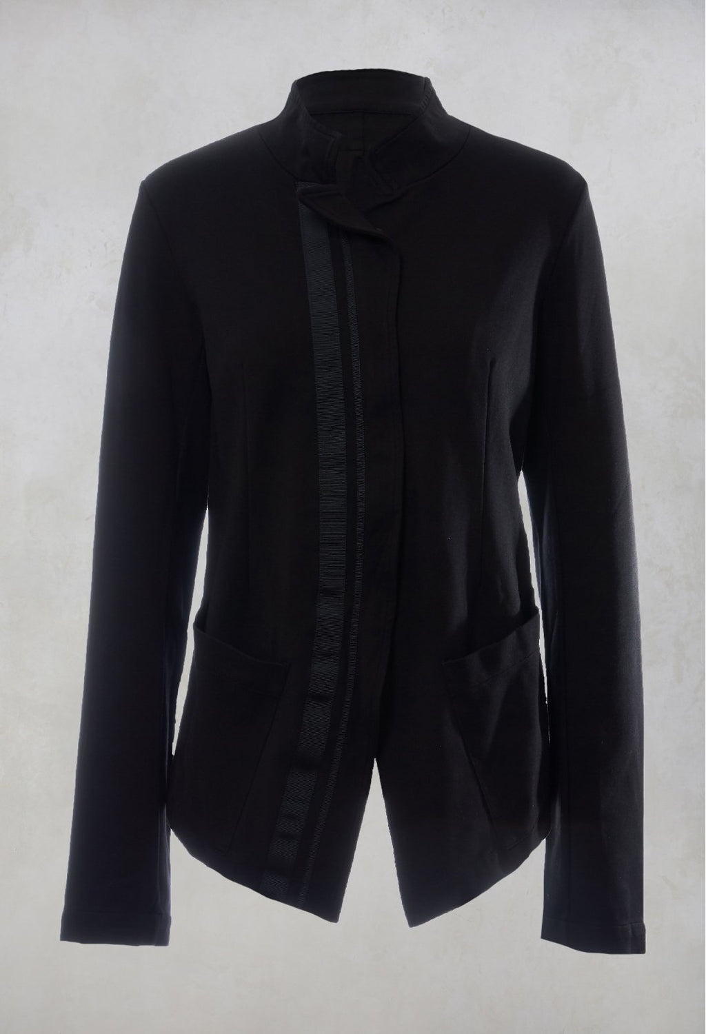 Zip Up Jacket in Black