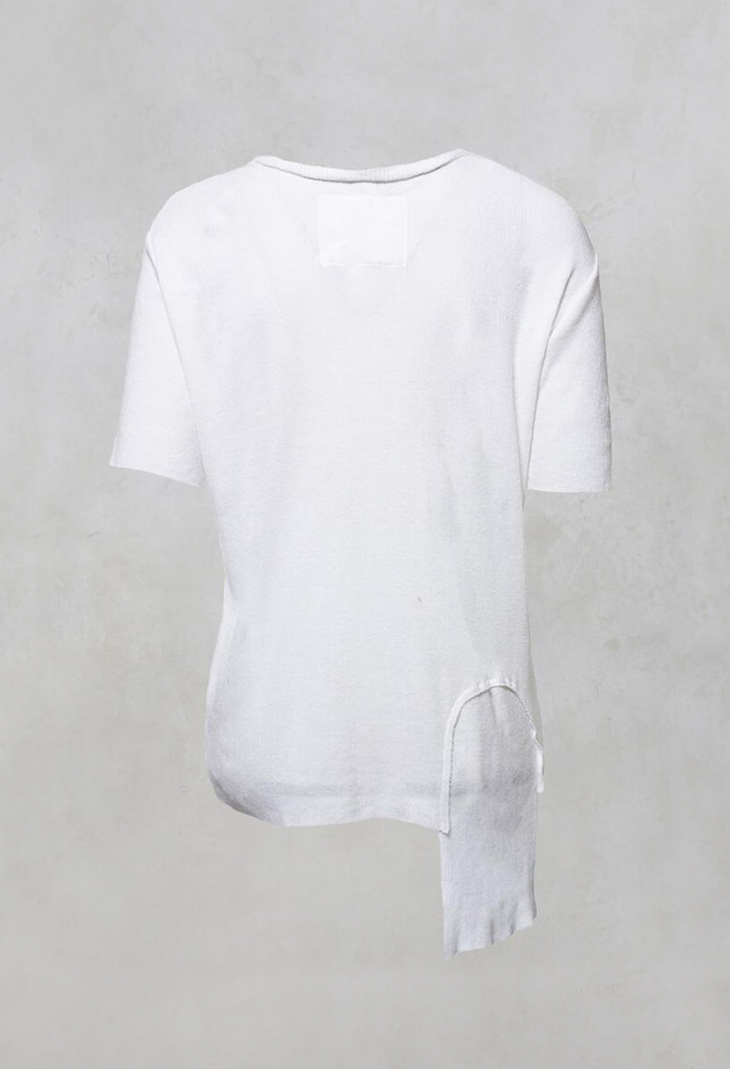 Colmar Jersey T Shirt with Ribbed Effect in White