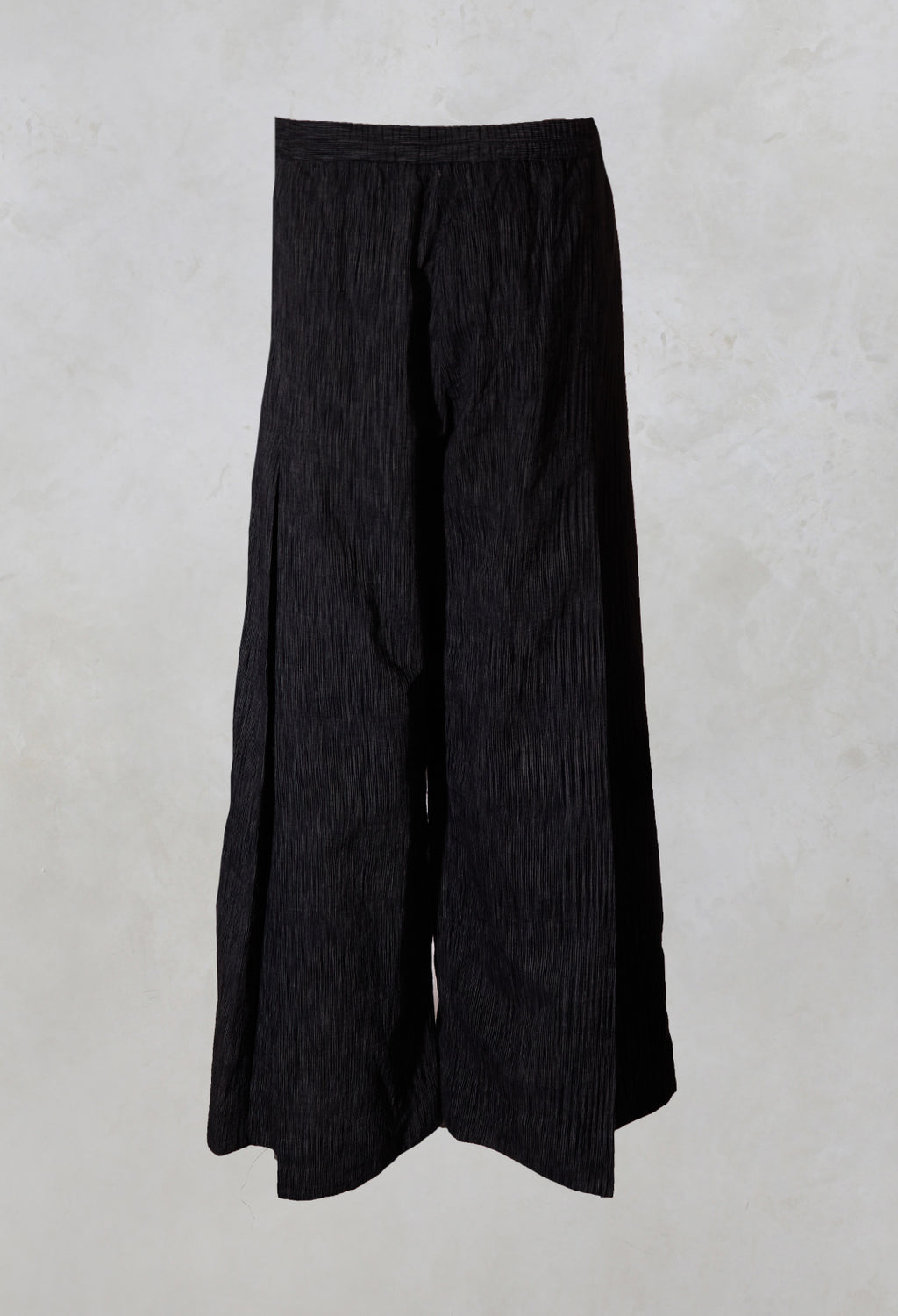 inverted Ikkat Cotton Pleated Pants in Grey