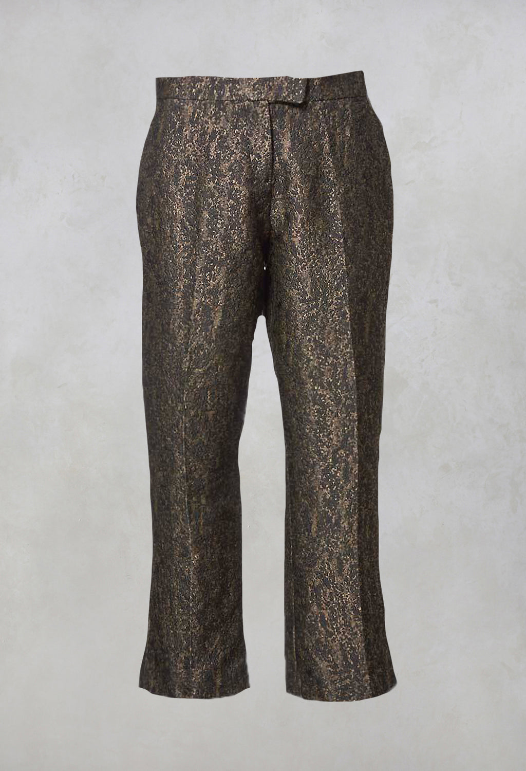 Straight Leg Trousers in Gold Mix