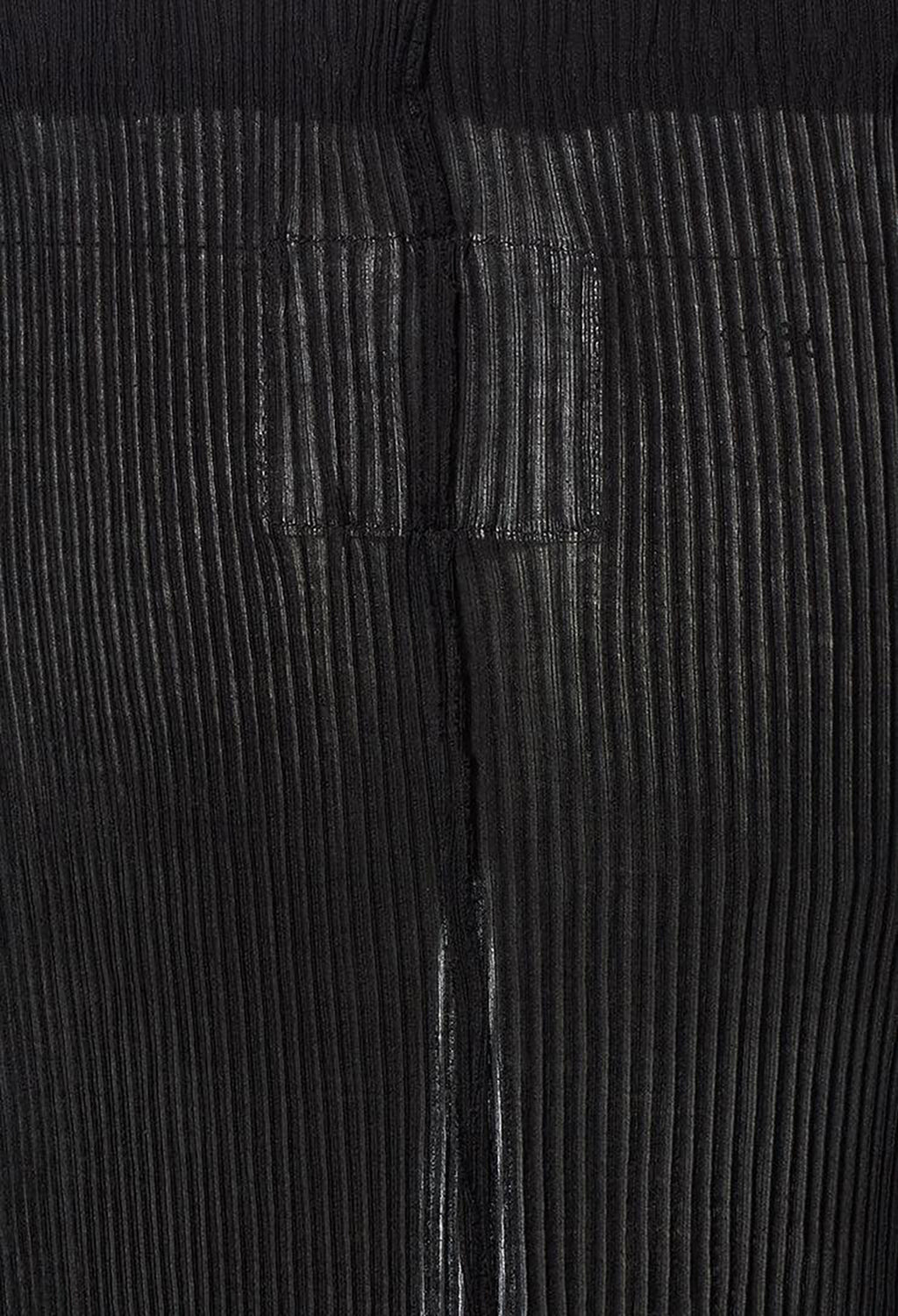 Polaris Ribbed Mid Length Split Skirt in Black
