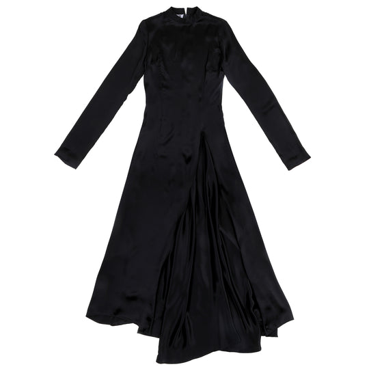STINGRAY SILK GOWN - BLACK