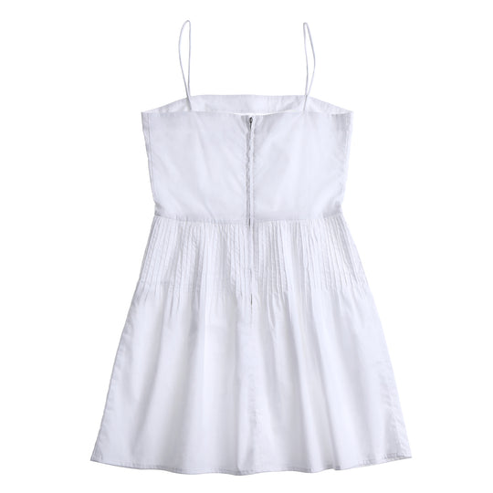 Dress 7 - Pin Tuck Mini Dress - White