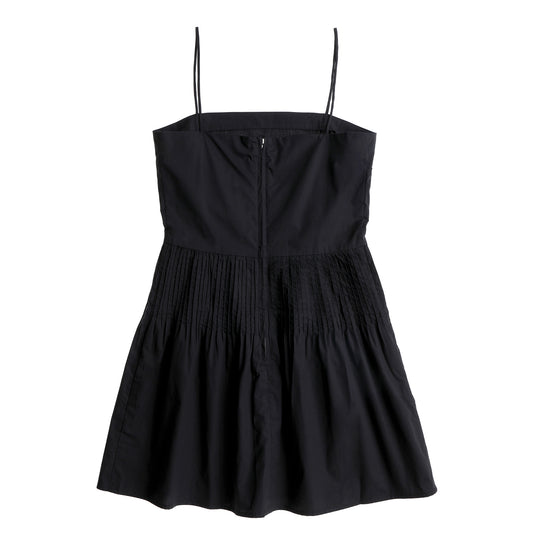 Dress 6 - Pin Tuck Mini Dress - Black