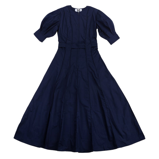Dress 13 - Zipper Dress - Navy Blue