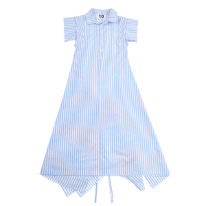 Dress 11 - Pleat Dress - Blue