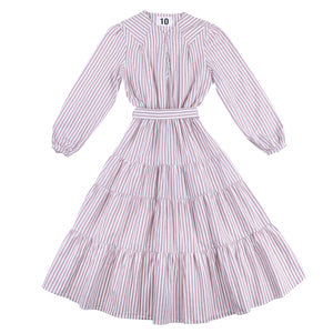 Dress 14 - Lucy Dress - Nude Stripe
