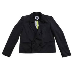 Crop Jacket Polished Cotton