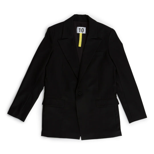 Single Breast Suit Jacket in Merino Wool