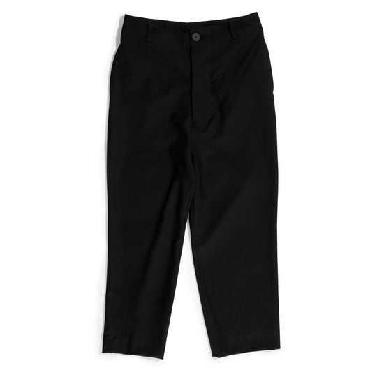 Straight leg pant with chain merino wool