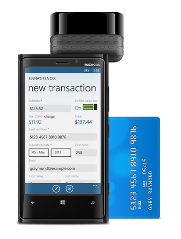 Credit Card Reader for Windows Phone 10