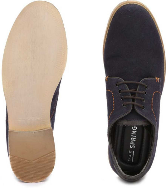 Gwollan  Derby Casual Shoes - Navy Blue - Ovolo Karachi