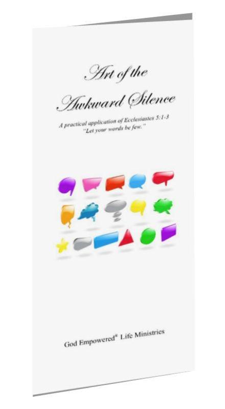 Art of the Awkward Silence Tri-fold