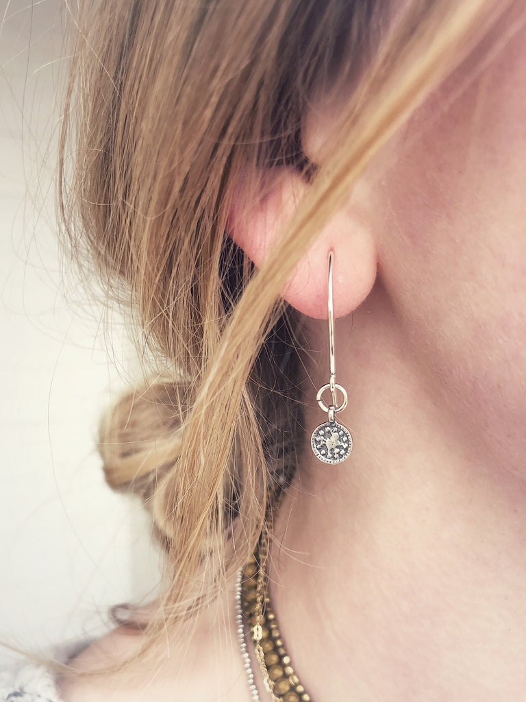 DEW DROP EARRINGS- ice