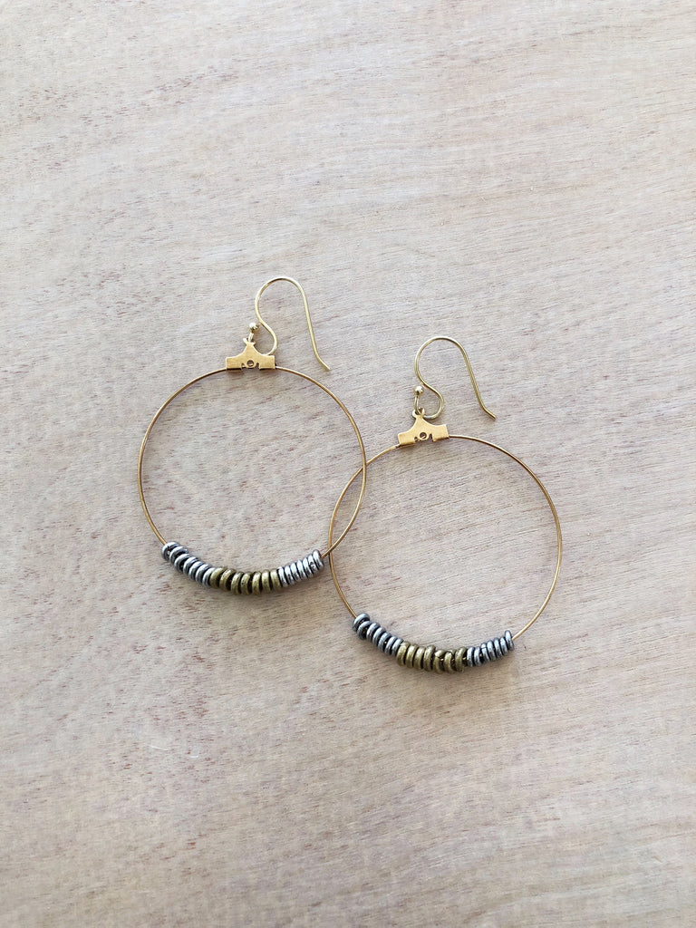 HEISHI HOOPS EARRINGS